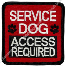 "2.5"" SERVICE DOG ACCESS REQUIRED Embroidered Patch Iron On Sew On Patches Vest Badge wholesale dropship free post(China)"