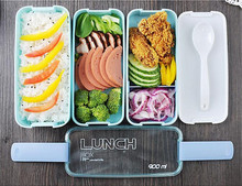 Bento Box 3 Layers Portable Gift For Kids Sushi Box 900ml Microwave Food Storage Container Lunchbox .(China)