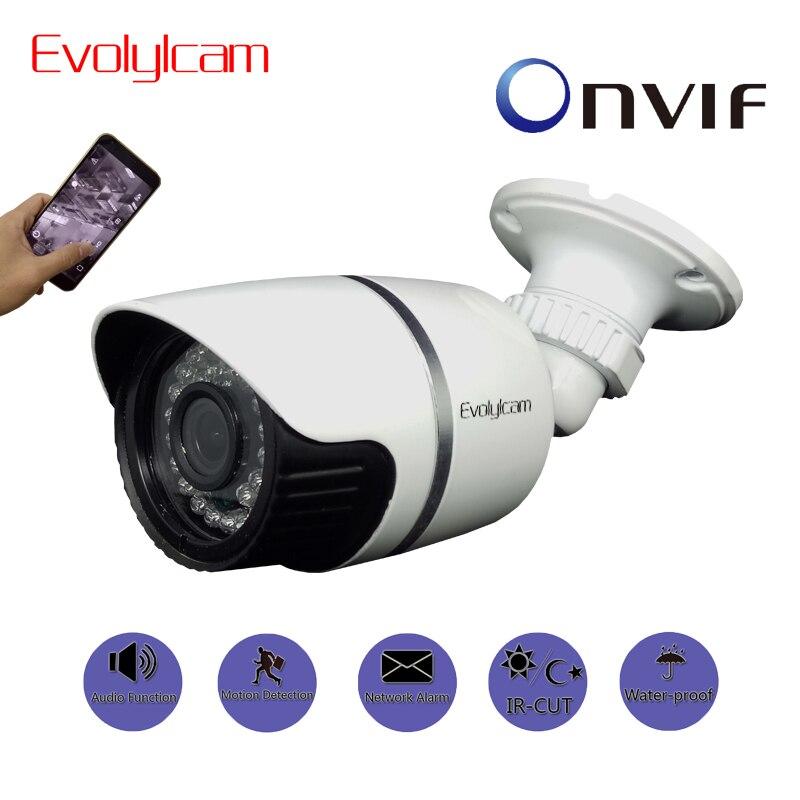 Evolylcam Audio 720P 1MP/ 960P 1.3MP/ 1080P 2MP HD IP Camera Network Alarm Onvif P2P CCTV Camera Surveillance IR Outdoor Bullet <br>