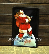 Christmas Tin Sign Bar pub home Wall Decor Retro Metal Art Poster 002