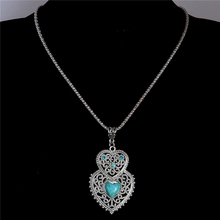 H:HYDE Fashion Bohemia Pendant  Necklaces Crystal Peacock Feather Chains Necklaces Dangle Pendant Necklaces