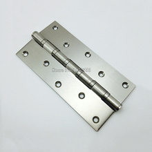 "Hot 2PCS 8"" Stainless steel Wooden Door Hinge 10 Holes Heavy Duty Hinges Mute Door Project Auxiliar Hardware With Screws K151(China)"