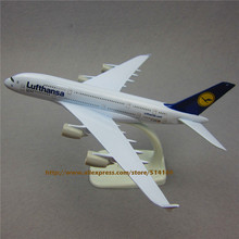 20cm Metal Plane Model Germany Air Lufthansa Airlines Airbus A380 380 Airplane Model Airways w Stand Aircraft Gift(China)