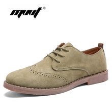 Appartamenti Scarpe Da Uomo da Uomo In Pelle scamosciata Scarpe Casual Moda Autunno Qualità Lace Up Outdoor Walking Oxford Shoes Zapatos Hombre(China)