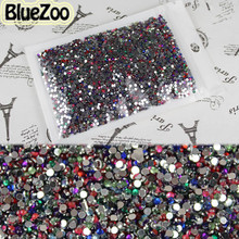BlueZoo 10000pcs Mixed Color Round Rhinestone 3D Sticker 2mm Nail Art Rhinestones Decoration Glitters For DIY Tips Decoration