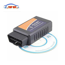 Discount!! 50pcs/lot ELM327 Bluetooth V2.1 OBD2 Car Diagnostic Tool ELM 327 Bluetooth Scanner V2.1 For Android DHL Free