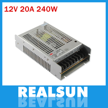 New model 12V 20A 240W  Switch Power Supply Driver Switching For LED Strip Light Display 110V/220V free shipping