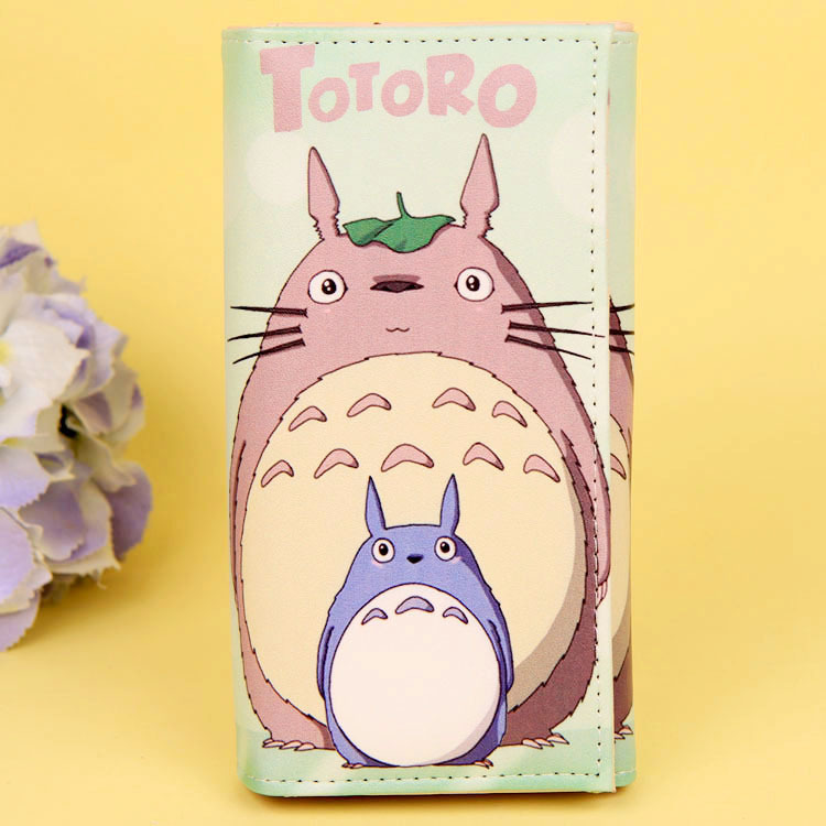 Cartoon My Neighbor Totoro Women Wallets PU Leather Students Wallet Cards Holder Women's Clutch Hasp Coin Purse Money Bags 11