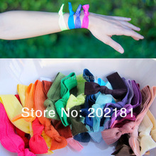 50color 200pcs/lot Emi Jay Like Elastic Goody Ouchless Ribbon Elastics Hair Bands-Girls Women's Hair Accessories Yoga Hair Ties