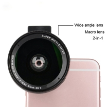 Buy Portable 0.6X Wide Angle Lens Clip 37mm Macro Mobile Phone Camera Lens Universal iPhone Android IOS Phone Lens for $15.70 in AliExpress store