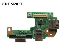 YTAI New DQ15DN15 CRT Board For Dell Inspiron N5110 with DC Power Jack port / VGA/ USB2.0 port  48.4IF05.021 FREE SHIPPING