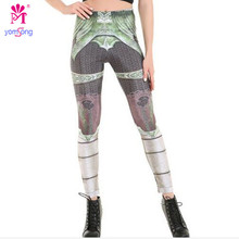 Yomsong Women Robot Printing Leggings Trend High Waist Leggings Slim Pencil Pants Trouseres Factory Wholesale 727(China)