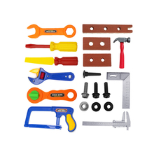 19Pcs Kids Childrens Toy Building Tool Kit Boys Builder Construction Play Set(China)