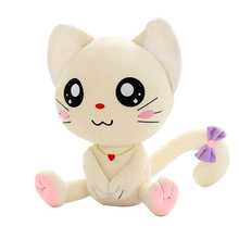 White Cat Stuffed Animal Toy Soft Pillow Kawaii Valentine Plush Toys Soft Speelgoed Cute Cat Plush Doll Toy Anime 70C0216(China)
