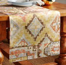 High-end fashion Indian style Geometric pattern Printed fabric Table flag table runner(China)