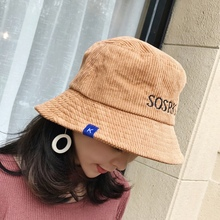 df1dfd33cd3e6d 2018 Fashion Spring Autumn Caps Travel Hats Women Velvet Bucket Hats With  Letter print Casual Easy