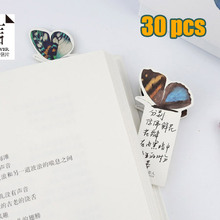 30 PCS Bookmark Butterfly Style Teacher's Gift Book Marker Stationery Gift Realistic Cute Kawaii Cartoon 3d Bookmark message