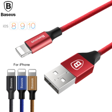 Baseus Original 8pin USB Cable For iPhone Data Cable Mobile Phone Fast Charging Cable For iPhone 5 6 7 iPad Quick Charger Cable