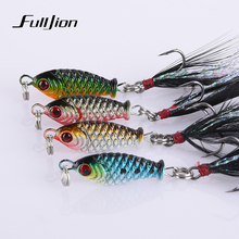 1pcs Fishing Lures Lead Fish VIB Wobblers Fishing Tackle With Hooks For All Water Baits Pesca Isca Artificial 2.5cm 6.4g(China)