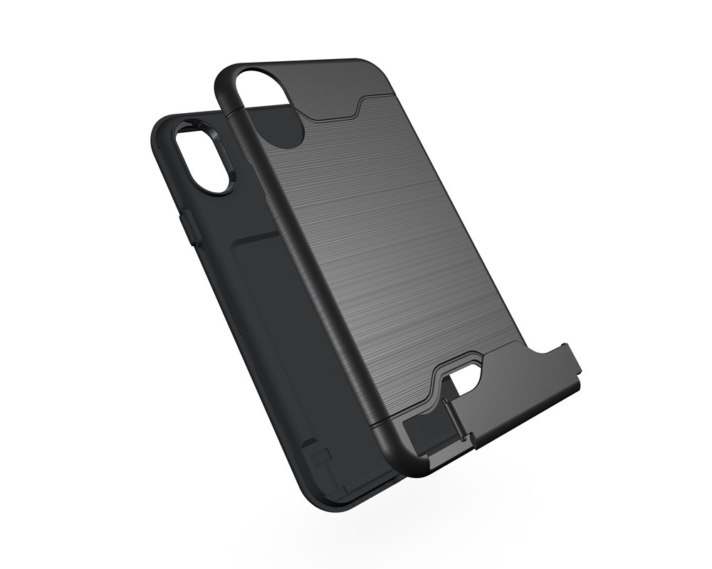 KEYSION Case For iphone X Shockproof cover for iPhone X Kickstand Armor Phone Bag Cases For iphone 10 Card Holder Coque 5