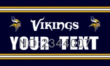 Minnesota Vikings Custom Your Text Flag 3ft x 5ft Polyester NFL Team Banner Flying Size No.4 150* 90cm Custom flag Super Fan