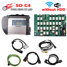 Best Quality PCB MB SD Connect Compact 4 MB Star C4 Diagnosis SD C4 without HDD with wifi Full Chip NEC Relay DHL Free Shipping