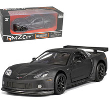 1:36 scale high simulation Coupe,metal pull back Corvette C6-R cars,Grind arenaceous matte black models