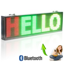 12 v / 24 v P10 Car LED Sign Bluetooth Remote Control Led Sign Text Display board Moving Message Panel(China)