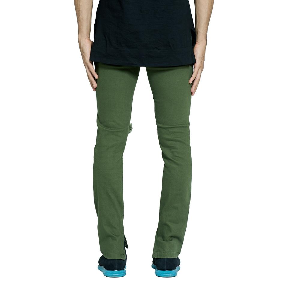 HTB1S4kgdy0TMKJjSZFNq6y 1FXaF Army Green Ripped Jeans Fashion