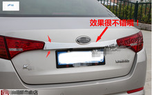High Quality ! new accessories For KIA Optima K5 2011 2012 2013 Stainless Steel Rear Trunk Lid Cover Trim