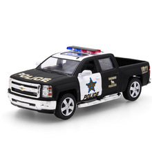 2017 Hot Sell 1:32 Pickup Truck Vehicle Diecast Alloy Metal Car Model Collection Model Pull Back Toys Car Gift For Boy&Children