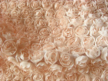 1 yard peach Rosette Fabric, Baby Photography Prop Backdrop Blanket, chiffon rosette fabric, girl dress fabric, SDF010(China)