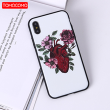 Buy TOMOCOMO Flower Patterned Case iPhone 6 6s 7 Plus Cover Soft Silicone Floral Protect Cover iPhone 8 8Plus X Phone Cases for $3.99 in AliExpress store