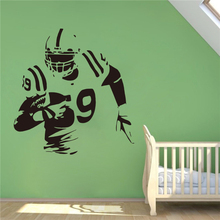 American Football Wall Decal Football Player Vinyl Sticker Extreme Sport Home Interior Murals Housewares Vinyl Graphics #T414