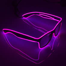 EL Glasses El Wire Fashion Neon LED Light Up Shutter Shaped Glow Sun Glasses For Party ,Halloween,Christmas