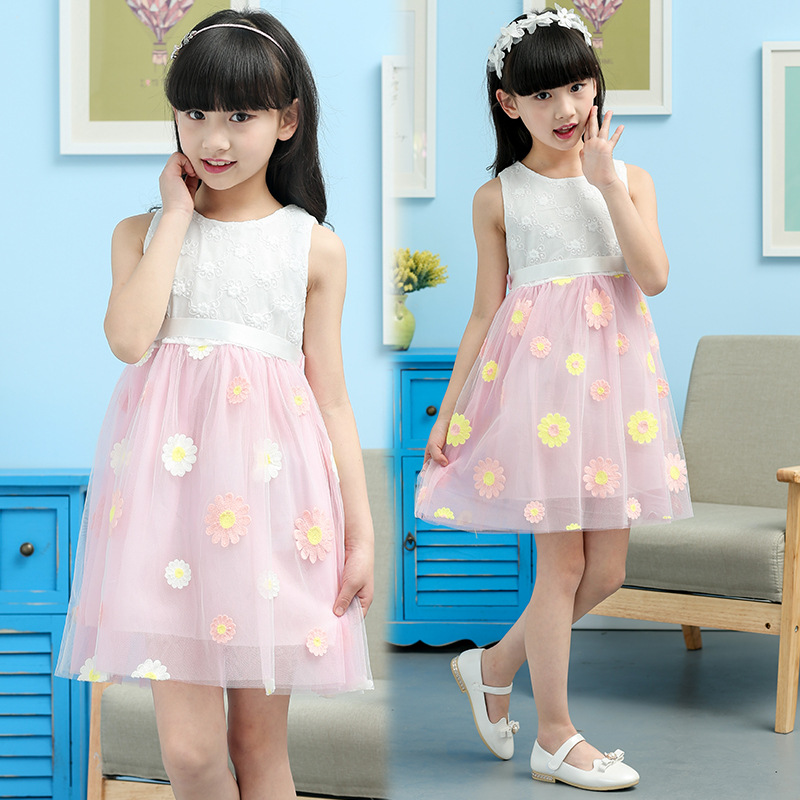 Anlencool Korean version high quality Brand  summer sun flower girl dress Childrens Day Dance Girls dresses baby girl clothing<br><br>Aliexpress