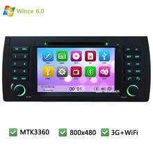 MT3360 FM Wince 6.0 Car DVD Multimedia Player Radio Stereo Screen PC GPS Support 3G WIFI For BMW 5 7 Series X5 E53 E38 E39 M5