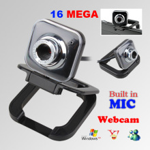 New USB 2.0 16 Mega High Definition Webcam Video Camera With Microphone Mic for PC Laptops Skype/MSN/Windows Live Messenger(China)