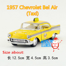 KINSMART Diecast Metal Model/1:40 Scale/1957 Chevrolet Bel Air (Taxi) Car/Classical Pull Back Toy/Children's gift or collection