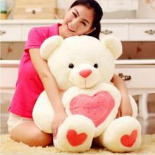 1 piece 60CM Lovely Teddy Bear With Heart Soft Stuffed Plush Toys Brinquedos Factory Price E106