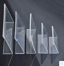20 шт./лот 7.5x5.2 см Г-образный прозрачный акрил стенд супермаркет ценник Пластик Настольный держатель карты(China)