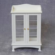 1:12 scale Dollhouse Miniature furniture Buffet Wooden Cabinet display showcase kids Classic Toys