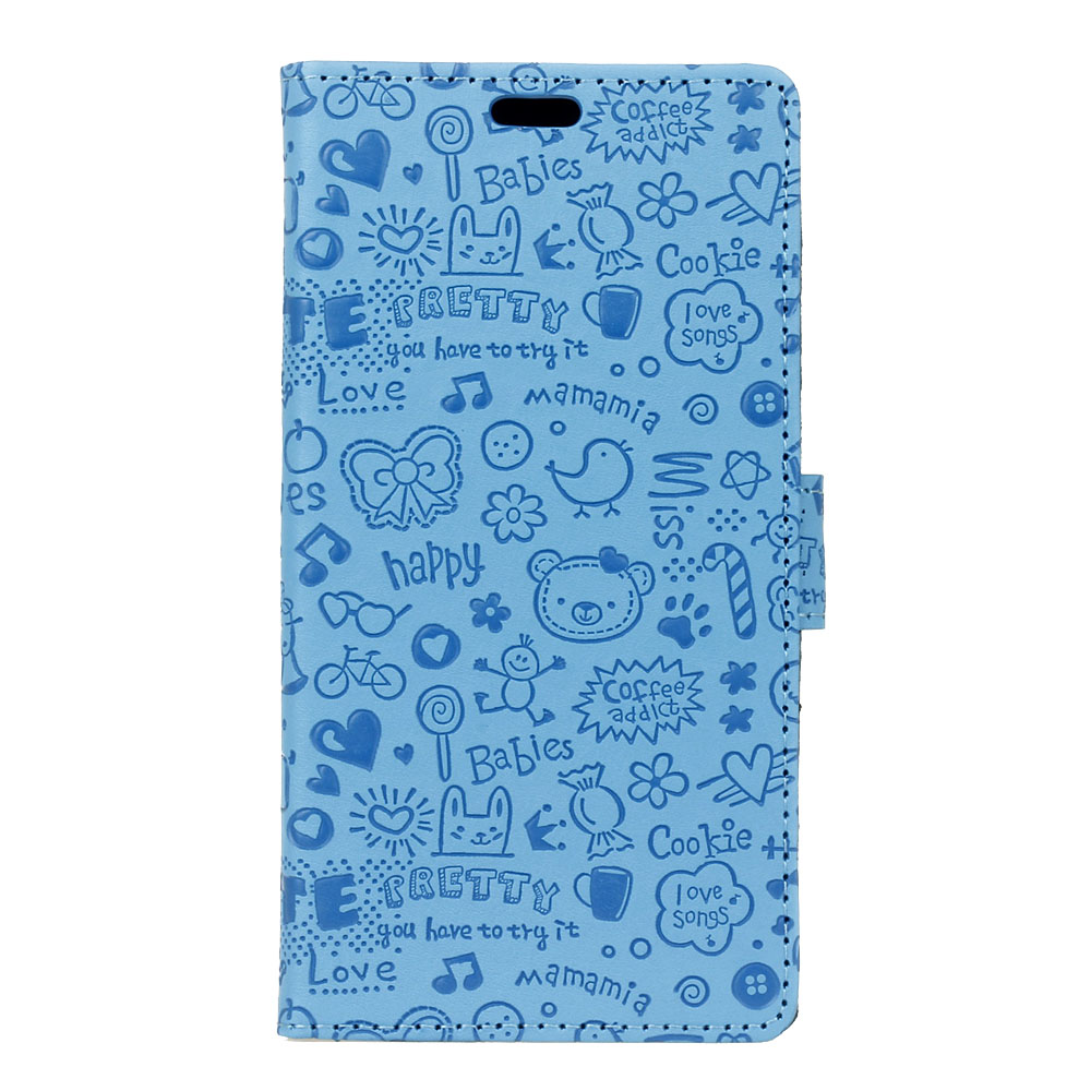 Cute 3D Pattern Case Doogee BL5000 MIX Shoot 2 Phone Cover Doogee X30 Flip Wallet Leather Coque Card Holder Slot