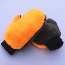 Double Side 80% Polyester 20% Polyamide Plush Terry Microfiber Dust Remove Mitt Auto Care Detailing Cleaning Buffing Mitt