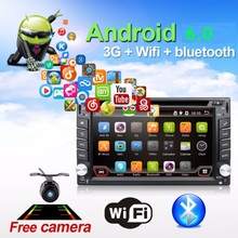 Car Electronic autoradio 2din android 6.0 car dvd player stereo GPS Navigation WIFI+Bluetooth+Radio+Quad Core CPU+3G+TV (Option)(China)