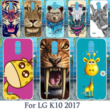 Mobile Phone Case For LG K10 2017 X400 M250 M250N Europe Version Hord Plastic Soft TPU Cover Animal Picture Pattern Covers