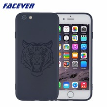 Facever Fashion Tiger Skull Head Glossy Printed Phone Case For iPhone 6 6 Plus 6S 6S Plus 7 7 Plus Matte Silicone Cover Case