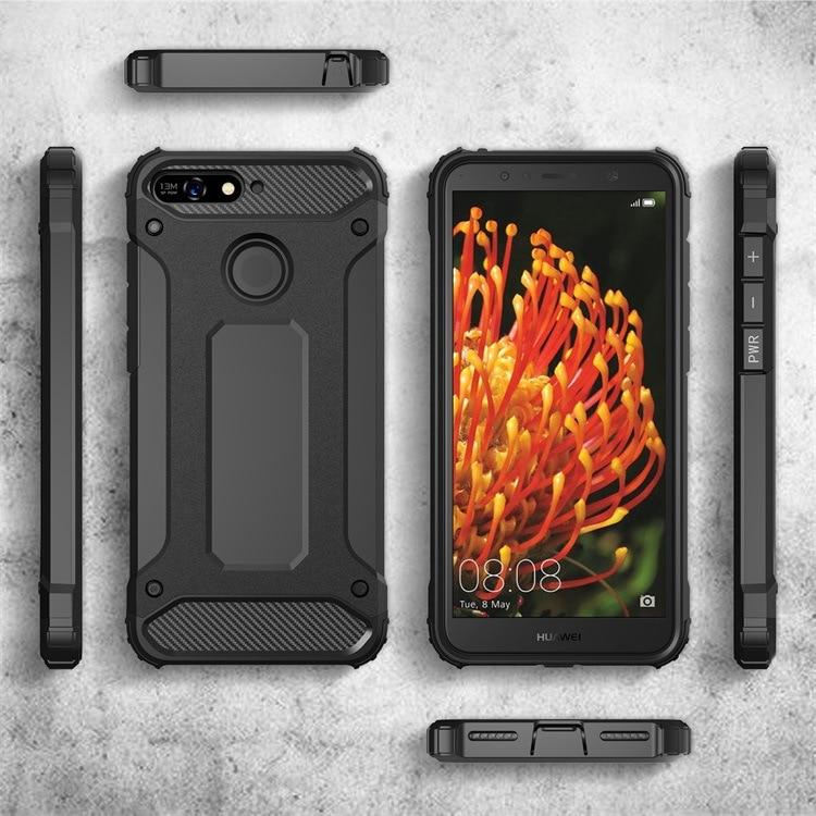 Blau SevenPanda f/ür Huawei Y6 2018 Case iPhone SE H/ülle Gl/änzender /Überzug Make-Up Spiegel Stand Ultra Slim St/änder View Handyh/ülle Metall Galvanisieren /Überzug PC Spiegel Schale