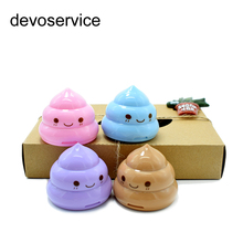 Kawaii Shit Pencil Sharpener shape Cutter Knife Double Orifice Double Pole Piece Promotional Originality Gift Stationery(China)