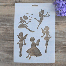 DIY Craft Angel Girl Fairy Layering Stencils For Walls Painting Scrapbooking Stamping Album Decorative Embossing Paper Cards